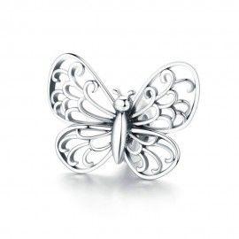 Charm en plata de Ley Mariposa linda