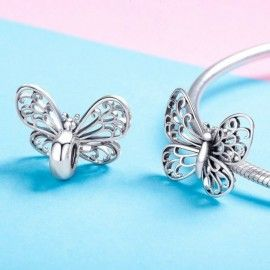 Sterling silver charm Nice butterfly
