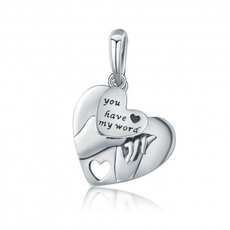 Sterling silver pendant charm You have my word