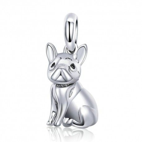 Sterling silver pendant charm French bulldog