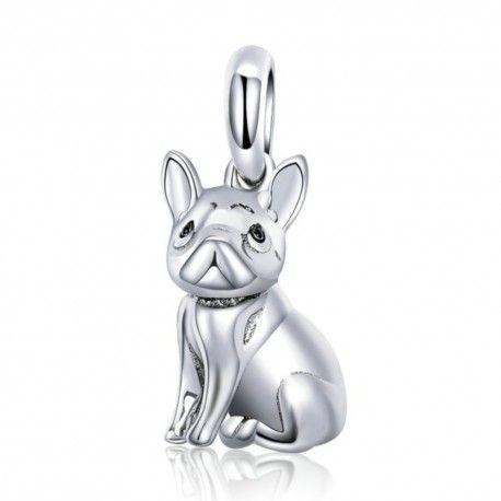Sterling silver pendant charm French bulldog