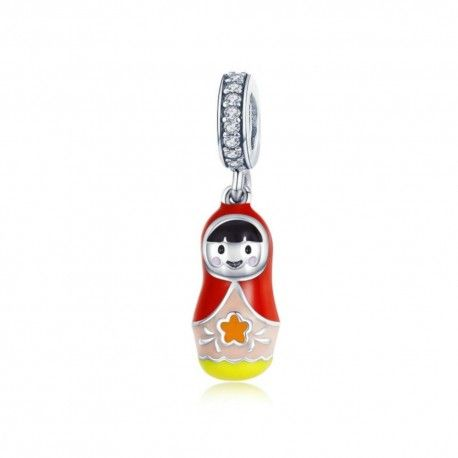 Sterling silver pendant charm Russian doll