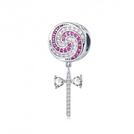 Sterling silver charm Lollipop