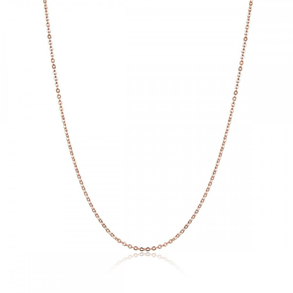 Zilveren halsketting met karabijnsluiting rose goud kleur