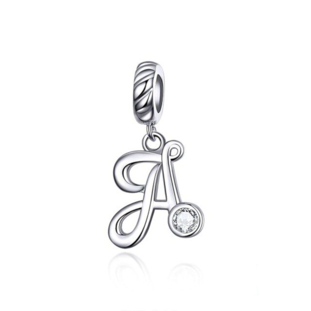 Sterling silver pendant charm letter A