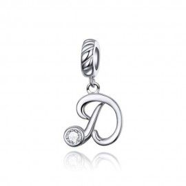 Sterling silver pendant charm letter D