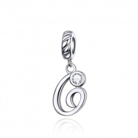 Sterling silver pendant charm letter G