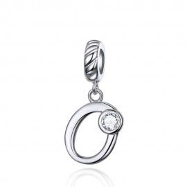Sterling silver pendant charm letter O
