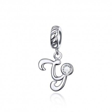 Sterling silver pendant charm letter Y