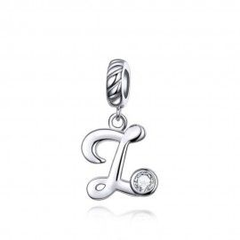Sterling silver pendant charm letter Z