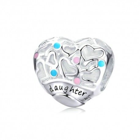 Sterling silver charm Daughter love
