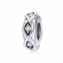 Sterling silver spacer Infinity