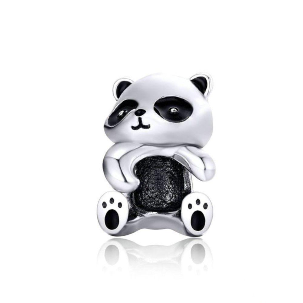 Zilveren bedel Panda