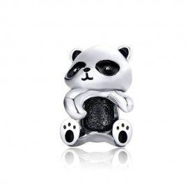 Charm in argento Panda
