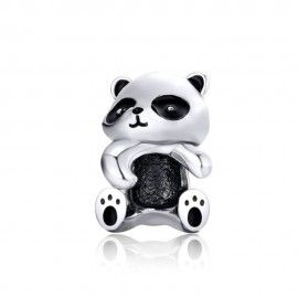 Sterling silver charm Panda