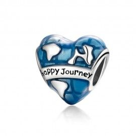 Sterling silver charm Happy journey