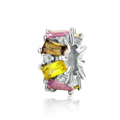 Sterling silver stopper Multicolored