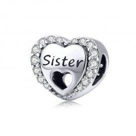 Charm en plata de Ley Amor de hermana