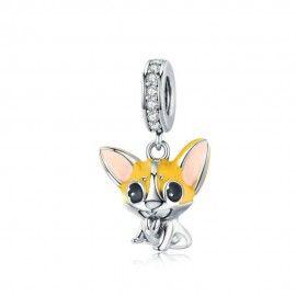 Sterling silver pendant charm Corgi dog