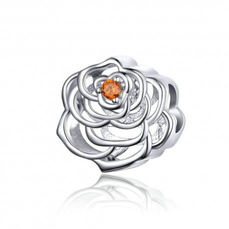 Sterling silver charm The rose