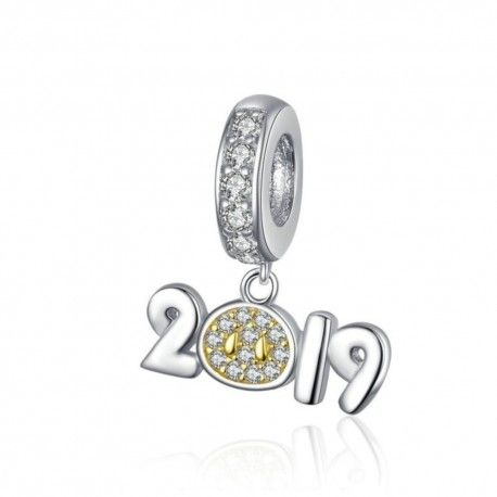 Zilveren hangende bedel 2019