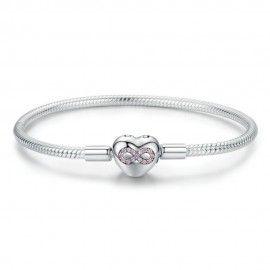 Sterling silver charm bracelet Infinity