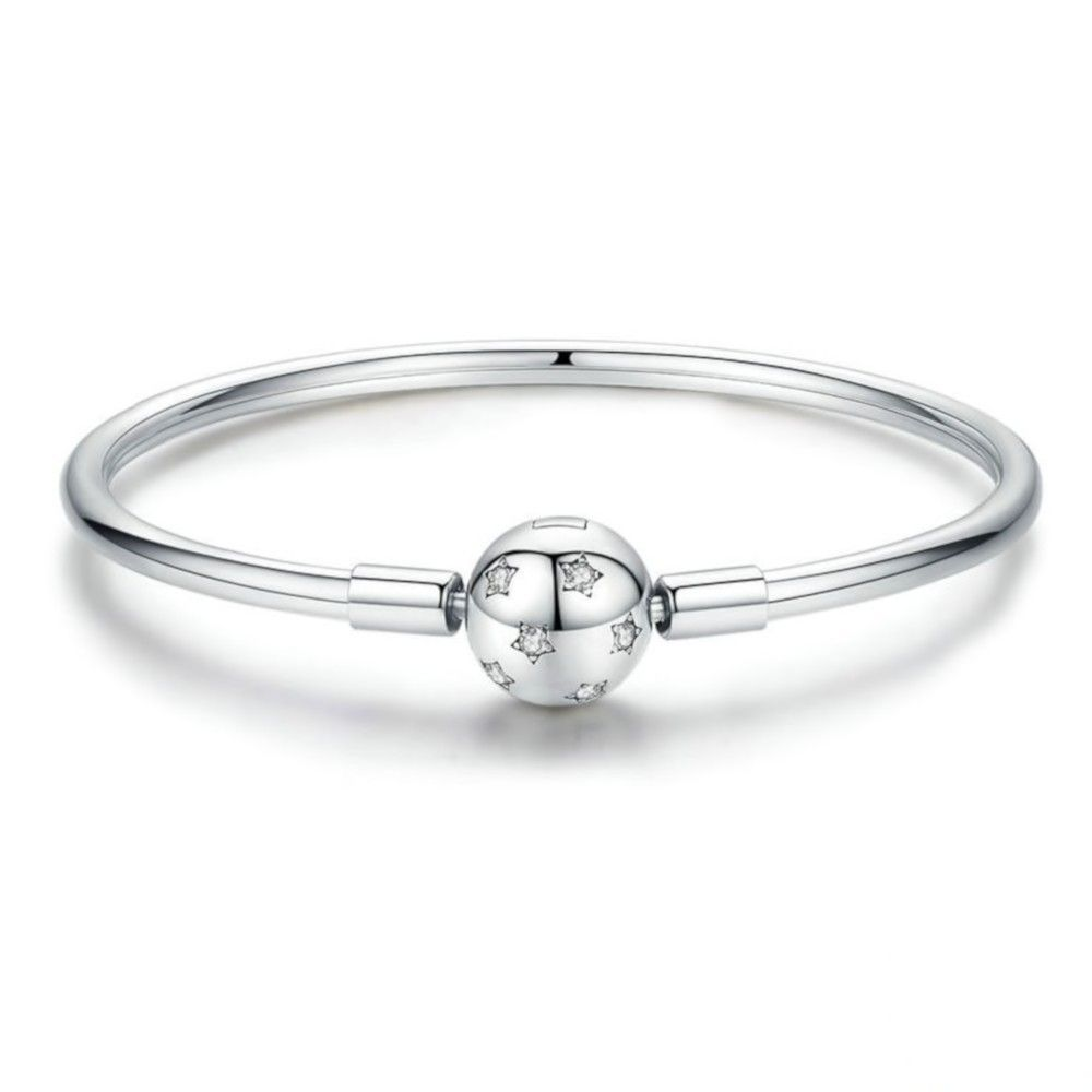 Sterling zilveren bangle armband Sterren