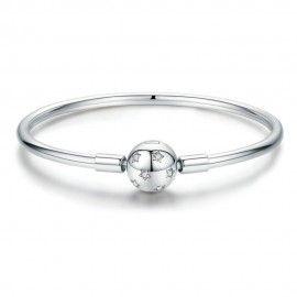 Bracelet jonc en argent (S925) Étoiles