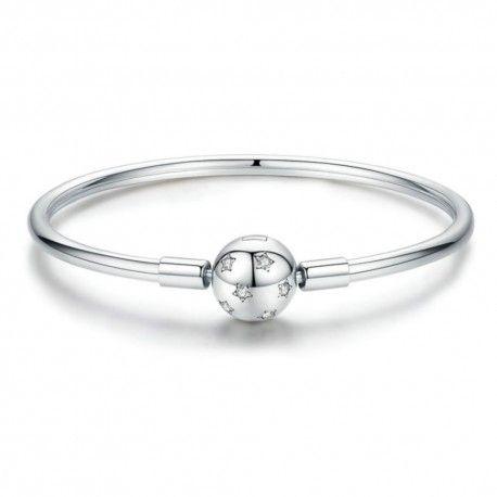 Sterling silver bangle bracelet Stars