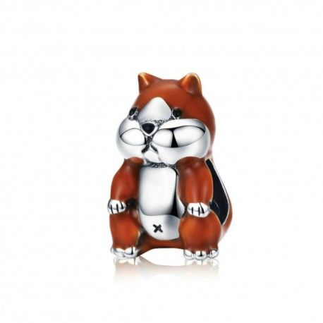 Sterling silver charm Hamster with enamel