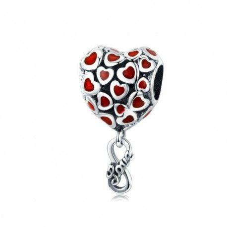 Sterling silver pendant charm Endless love