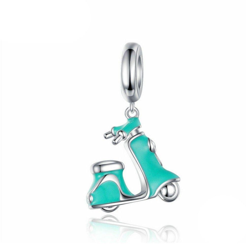 Sterling silver pendant charm Vespa scooter