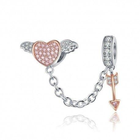 Zilveren hangende bedel Cupido's pijl