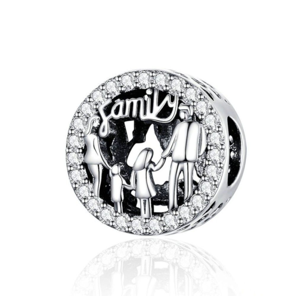 Sterling silver charm Family of 4