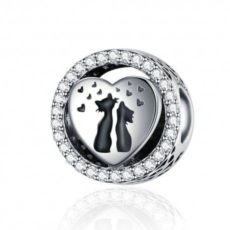 fe8103d0f Sterling silver charm Cat couple-Mijn bedels-for your Pandora or ch...