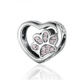 Sterling silver charm Animal lover