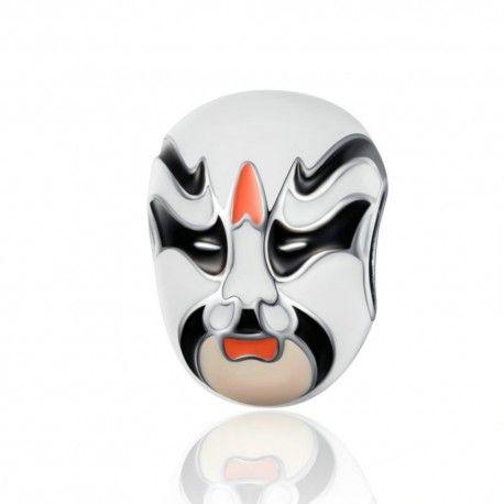 Sterling silver charm Peking opera mask