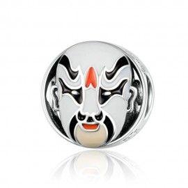 Charm in argento Maschera dell'opera di Pechino