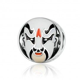 Zilveren bedel Peking operamasker