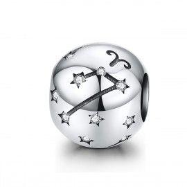 Charm en plata de Ley Aries del signo del zodiaco