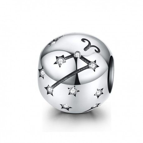 Sterling silver charm Zodiac sign Aries