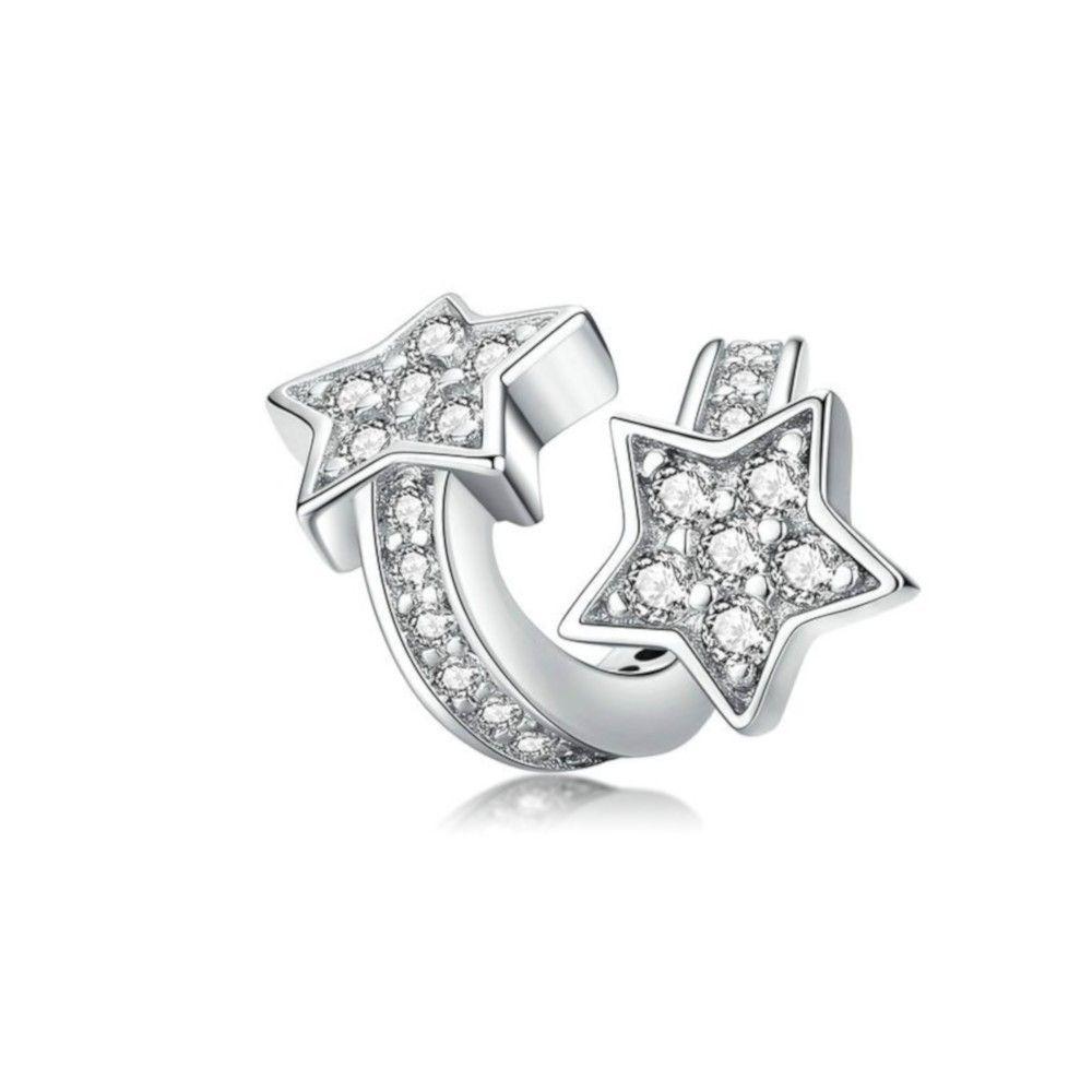 Sterling silver charm Shiny star