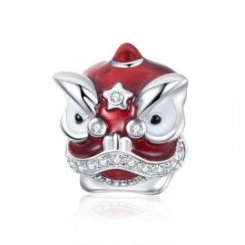 Sterling silver charm Chinese lion