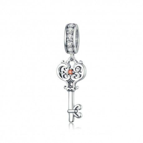 Sterling silver pendant charm Vintage key