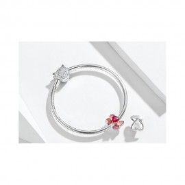 Sterling silver charm Ring in a box