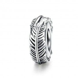 Sterling silver stopper Bohemian feather