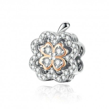 Sterling silver charm Lucky clover