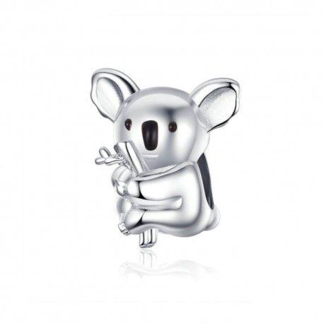 Zilveren bedel Koala