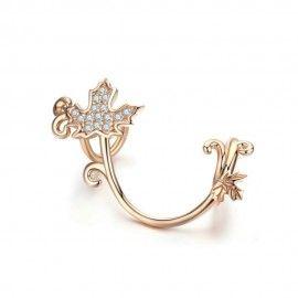 Charm in argento placcata oro rosa Acero