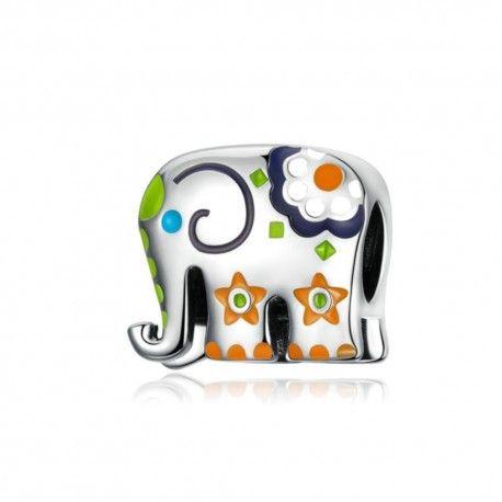 Zilveren bedel Thaise olifant